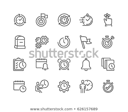 Time Management, People with Clock Timer Icon Stock photo © robuart