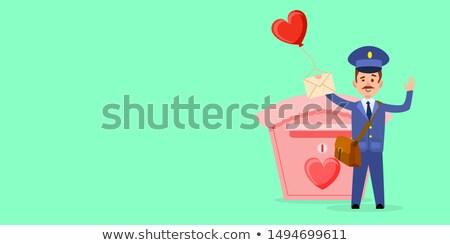 caixa · de · correio · ícone · desenho · animado · estilo · isolado · branco - foto stock © robuart