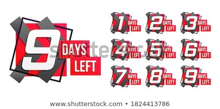 Contagem regressiva número bandeira projeto compras marketing Foto stock © SArts