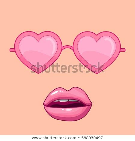 Gelukkig paar zonnebril valentijnsdag liefde mensen Stockfoto © dolgachov