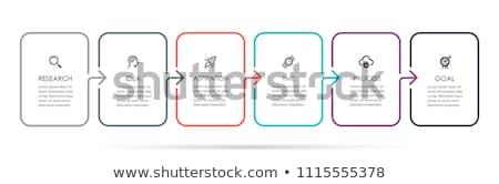 вектора · прогресс · шесть · шаги · шаблон · один - Сток-фото © sarts