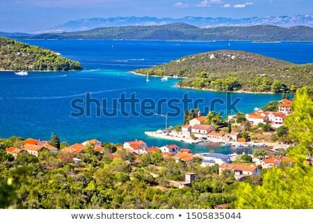 Isla paisaje vista región Croacia árboles Foto stock © xbrchx