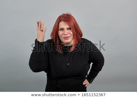 Portrait of angry business person shouting. Stock photo © lichtmeister