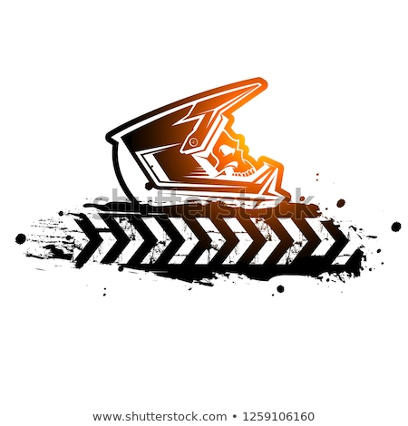 Motocross Rider and Motorcycle Silhouette Isolated Vector Illustration Stock photo © jeff_hobrath