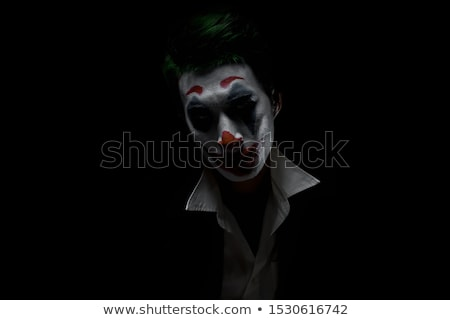 scary evil clown with a bloody mouth stock photo © nito