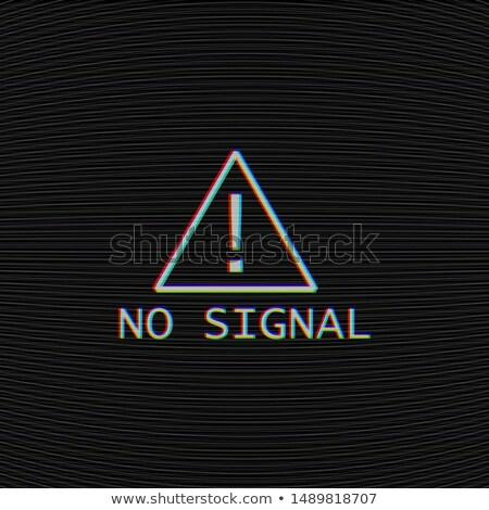 Tv bruit texture pas signal étiquette Photo stock © Iaroslava