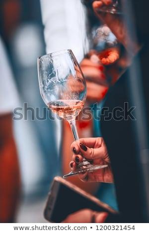 Nők eszik harapnivalók borozó étterem szabadidő Stock fotó © dolgachov