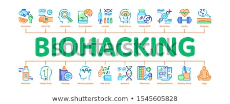 biohacking collection elements icons set vector stock photo © pikepicture