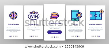 Betting And Gambling Onboarding Icons Set Vector Stock photo © pikepicture