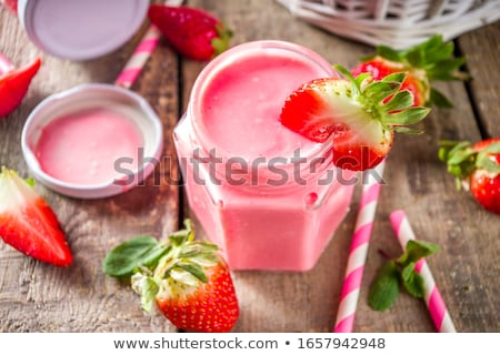 Stock photo: Summer fruit smoothie