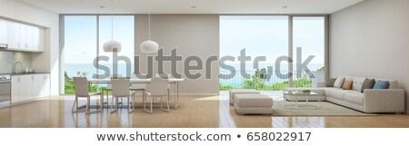 Interieur moderne home eetkamer keuken interieur Stockfoto © Lopolo