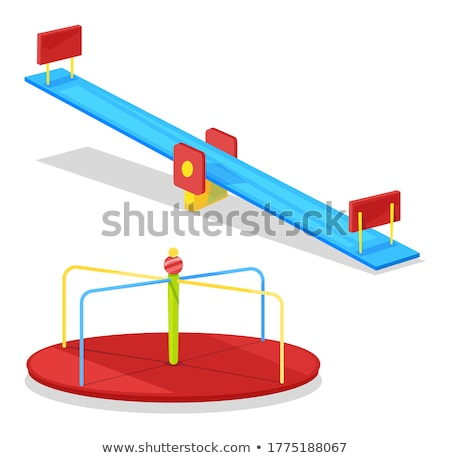 Stock photo: Children Carousel For Merrymaking On Free Time