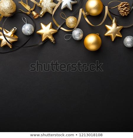 czarny · złota · wesoły · christmas · piękna · powitanie - zdjęcia stock © sarts