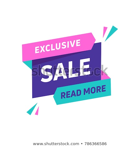 Sale banner design template. Flat origami speech bubble special offer discount vector illustration. Stock photo © Designer_things