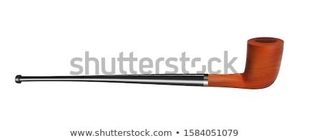 Tabac pipe bois fumer outil vue de côté Photo stock © pikepicture