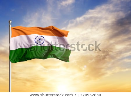 waving indian flag design with blue chakra Stock photo © SArts
