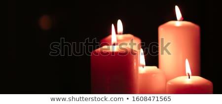 Aromático naranja floral velas establecer noche Foto stock © Anneleven