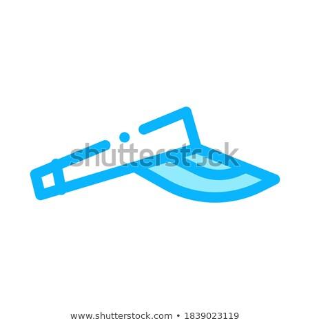 Tennis sport hoed icon vector schets Stockfoto © pikepicture