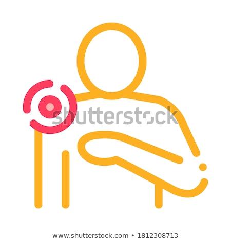 Schouderpijn icon vector schets illustratie teken Stockfoto © pikepicture