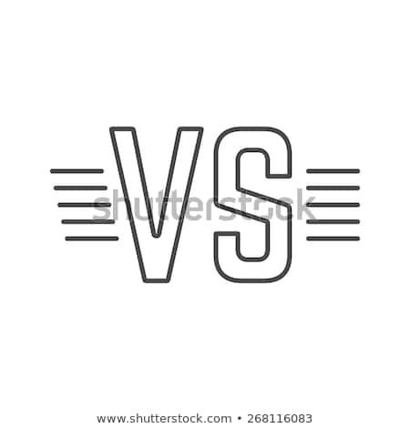 Siyah gri savaş kavga vs futbol Stok fotoğraf © SArts