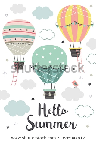 Three air balloons flying in the sky Stock photo © Novic