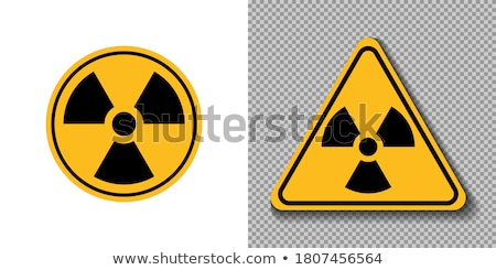 Biohazard vector triangle sign, on white background Stock photo © Zhukow