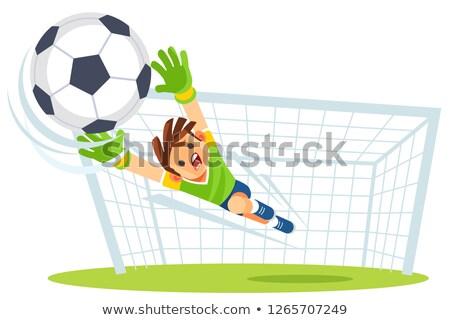 Futball futball kapus labda kapus tevékenység Stock fotó © matimix