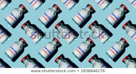 Beschikbaar spuit Blauw vloeibare vaccin schaduw Stockfoto © artjazz