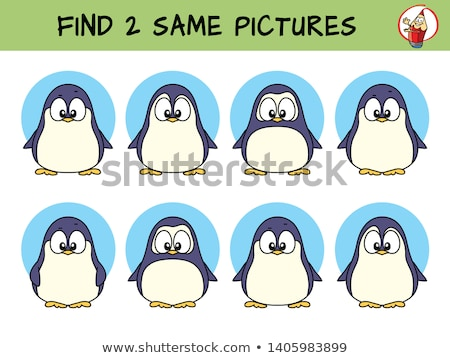 find two same animal characters color book page Stock photo © izakowski