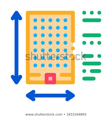 determination of area construction icon vector outline illustration Stock photo © pikepicture