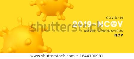 novel coronavirus covid-19 banner with virus cell concept Stock photo © SArts