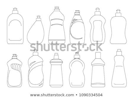 şişe yemek yıkama deterjan sıvı ayarlamak Stok fotoğraf © pikepicture