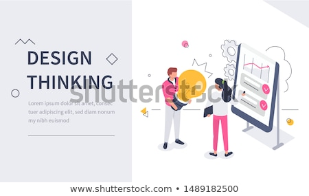 New idea engineering concept landing page. Stock photo © RAStudio