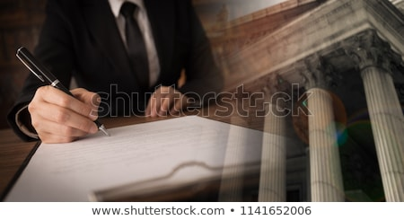 Lawyer Signing Legal Litigation Contract Stock photo © AndreyPopov