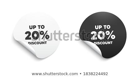 Korting percentage geld procent teken Stockfoto © AndreyPopov