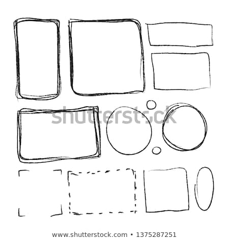 Set of black hand-drawn frames in different proportions on white Stock photo © evgeny89