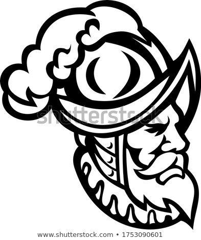 Espanol mascota blanco negro icono ilustración Foto stock © patrimonio