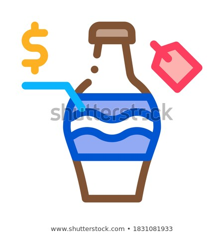 Leilões venda garrafa ícone vetor Foto stock © pikepicture