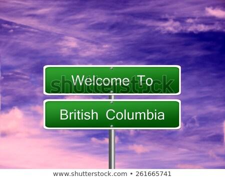 British Columbia Canada map road sign Stock photo © speedfighter