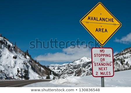 Rocky Mountains Highway Sign Stock photo © kbuntu
