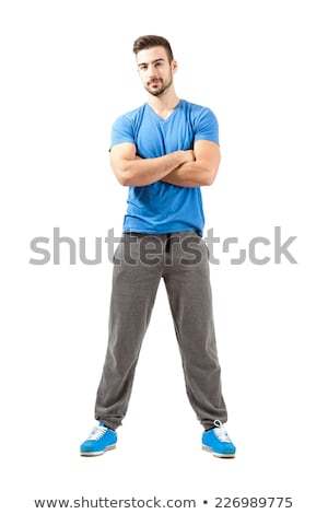 man in white sports suit with crossed hands stock photo © Paha_L