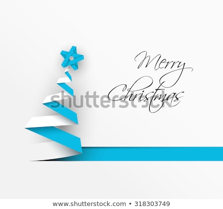simple vector christmas decoration made from paper stock photo © orson