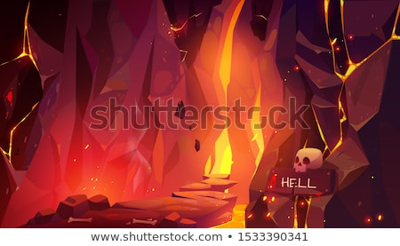 インフェルノ 壁 赤 紙 火災 ストックフォト © vichie81