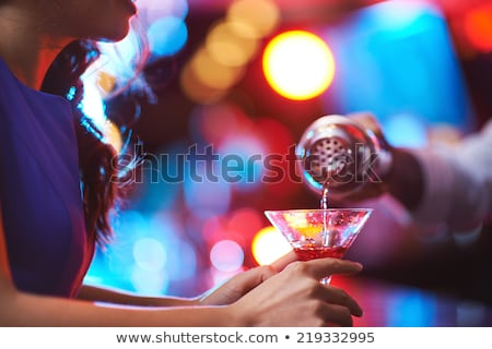 part of woman with red cocktail Stock photo © ssuaphoto