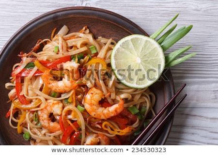 Rice with Asian shrimp Stock photo © joker