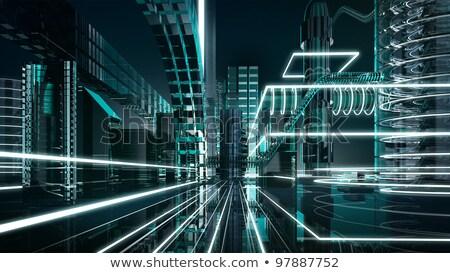 Scheme futuristic city. stock photo © zeffss