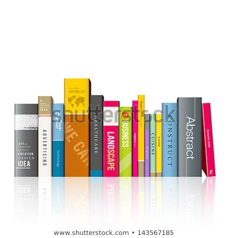 Row Of Colorful Books - Back To School Concept Stock fotó © Sarunyu_foto