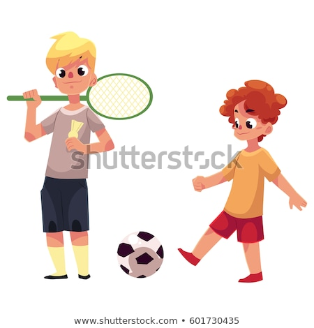 badminton player portrait stock photo © tiero