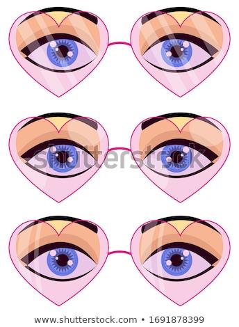 Kadın göz kalp iris kız Stok fotoğraf © PiXXart