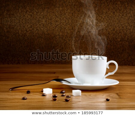lump sugar and porcelain coffee cup Stock photo © prill
